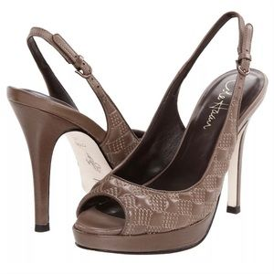 Cole Haan Stephanie quilted leather slingback 8.5
